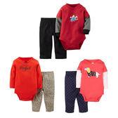 寶寶長袖套裝 新年紅棉質包屁衣 + 寶寶長褲  LZ8914 好娃娃