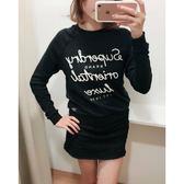【蟹老闆】SUPERDRY 女針織長袖 草寫英文 黑色