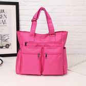 旅行包女行李包防水尼龍短途旅游包輕便簡約單肩包 JA2418『時尚玩家』