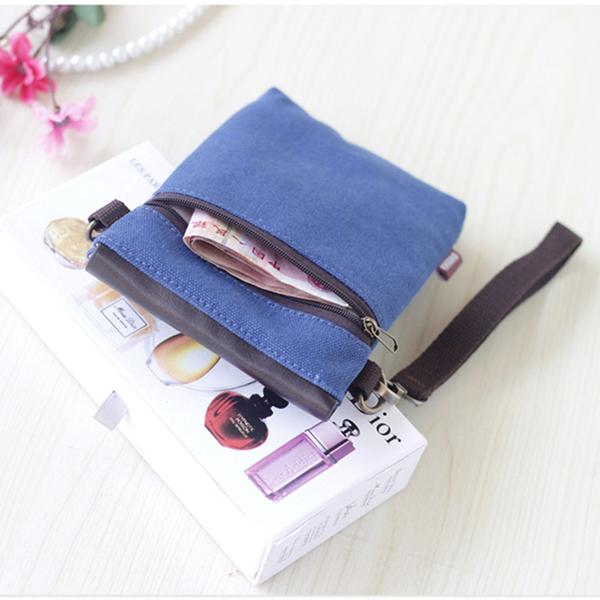 六月專屬價 裝手機的小包 6寸帆布手機包女布藝百搭斜挎手機袋迷你可愛零錢包