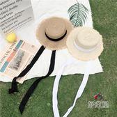 沙灘編織帽復古小清新撞色編織 交換禮物