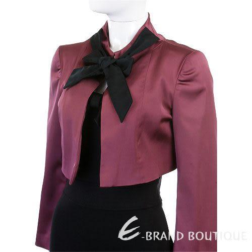 VALENTINO 綁帶蝴蝶結短版外套(紫紅色) 0510499-04