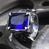 朋克北歐戰士戒指環 歐美首飾 食指潮戒子 男士復古紅寶石精品 IV2137【衣好月圓】