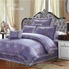 紫金滿堂 60支棉尊爵七件組-5x6.2呎雙人-鋪棉床罩組[諾貝達莫卡利]-R6612-M