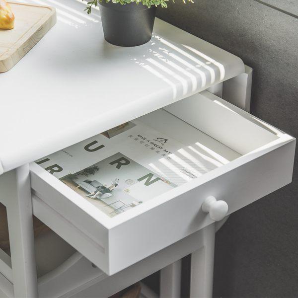 推車 廚房推車 餐車 多功能 折疊 餐桌【L0027】納維亞移動式摺疊餐車(兩色)  收納專科