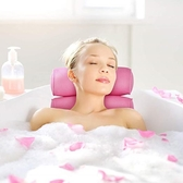 泡澡墊浴缸枕頭靠枕防滑泡澡枕頭加厚防水吸盤式粉色出口3D浴枕ATF 美好生活