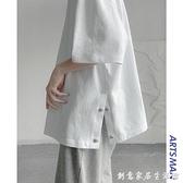 夏季純棉重磅短袖T恤男ins潮流寬松半袖百搭簡約上衣 創意家居生活館