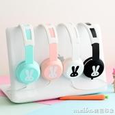 sibyl EX02卡通兔子頭戴式耳機線控帶麥可愛女生音樂耳麥手機通用 美芭