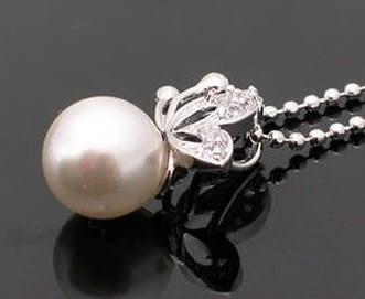 韓國宋慧喬同款 珍珠蝴蝶鑲鑽項鏈 韓國 短款【B4015】
