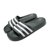 adidas 拖鞋 Adilette Aqua 綠 白 運動拖鞋 男鞋 涼拖鞋 舒適好穿【PUMP306】 F35537