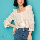 限量現貨◆PUFII-針織上衣 多穿法雕...