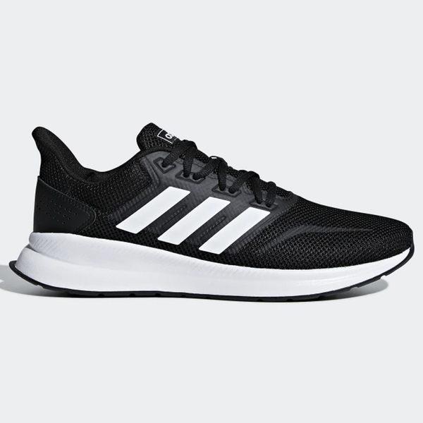 ★現貨在庫★ Adidas RUNFALCON 男鞋 慢跑 訓練 輕量 透氣 黑 【運動世界】F36199