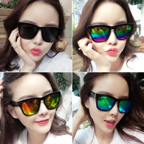 男士墨鏡女開車太陽鏡潮防紫外線明星款圓臉韓國司機眼鏡復古眼睛