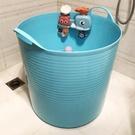 洗澡桶 兒童洗澡桶特大號加高泡澡桶寶寶浴桶塑料小孩沐浴桶浴盆【快速出貨八折鉅惠】