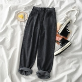 超火鬆緊高腰寬管褲夏季2019新款女裝韓版網紅寬鬆休閒牛仔長褲子 米娜小鋪