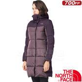 The North Face TNF 35CN-WDY灰紫 女700FP羽絨大衣 保暖雪衣防風夾克/機能衣/鵝絨外套