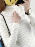 2019秋冬新款毛衣套頭女裝韓版短款長袖內搭半高領修身打底針織衫