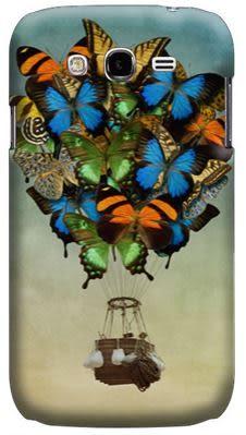 ✿ 3C膜露露 ✿{蝴蝶熱氣球*水晶硬殼}SAMSUNG GALAXY Grand Duos i9082 手機殼 手機套 保護套 保護殼