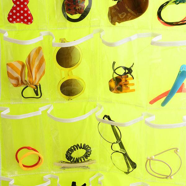 (全館免運)DE SHOP~韓衣櫃襪子內褲分類收納袋子透明牆門后儲物袋 (T-540)