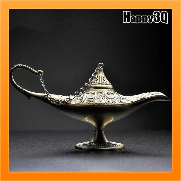 家具擺飾裝飾風格阿拉丁神燈復古雕花風金屬鍊條裝飾神秘感【AAA2552】預購