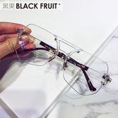 墨鏡男士潮人透明眼鏡2018新款大框眼睛女網紅款多邊形個性太陽鏡夢想巴士