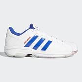 Adidas PRO MODEL 2G LOW 男鞋 籃球 休閒 皮革 耐磨 柔軟 白 藍【運動世界】FZ1393