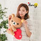 拉拉熊 正版授權 甜蜜愛心款(側坐)30公分絨毛娃娃 公仔 玩具 玩偶 ifancy