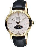 epos 月相盈虧 Day-Date 經典機械腕錶-銀x金框 3391.832.22.50.25FB