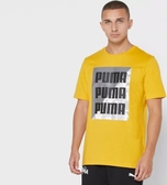 PUMA 男款黃色SUMMER短袖T恤-NO.58416525