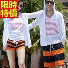 情侶款海灘褲(單件)-經典條紋熱情配色男女沙灘褲2色66z7【時尚巴黎】