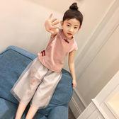 2018新款童裝女童夏裝套裝夏季中大兒童民族風女孩衣服寶寶兩件套