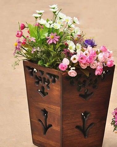 [協貿國際]工藝品鏤空雕花垃圾桶單個價