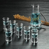 8折免運 白酒杯套裝家用一口杯小號玻璃 高腳杯雲吞杯歐式烈酒杯10ml