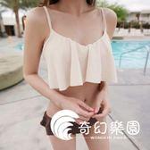 比基尼-韓國新款高腰抹胸小胸聚攏鋼托性感情侶沙灘褲溫泉分體泳衣-奇幻樂園
