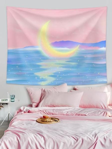 2張裝 背景布掛布臥室裝飾床頭布置房間背景墻墻布【聚可愛】