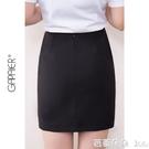 職業裙 春夏季職業裙女半身一步裙包臀裙黑色西裝裙正裝裙子工裝-Ballet朵朵