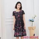 RED HOUSE-蕾赫斯-彩繪花朵洋裝(共2色)