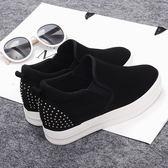 【雙12】全館低至6折新款帆布鞋布鞋內增高女鞋子小白鞋厚底百搭黑白色懶人鞋