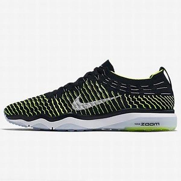 NIKE W AIR ZOOM FEARLESS FLYKNIT 女鞋 慢跑 訓練 休閒 編織 氣墊 黑 綠 【運動世界】850426-002