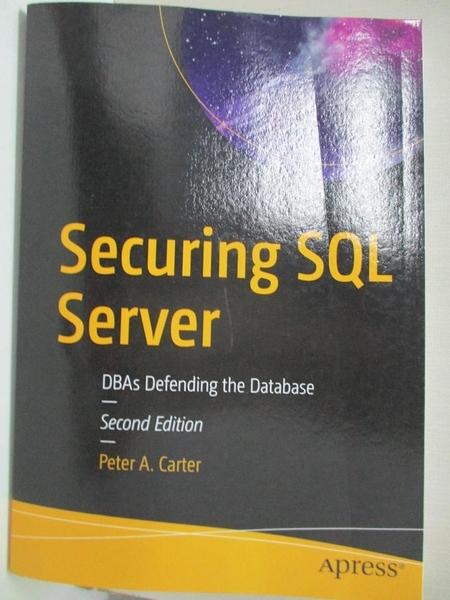 【書寶二手書T1/原文書_E2I】Securing SQL Server: Dbas Defending the Database