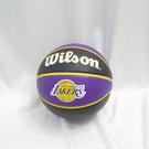 WILSON 維爾遜 NBA隊徽系列 七號籃球 湖人 橡膠 室外 WTB1300XBLAL 紫【iSport愛運動】