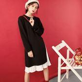 連身裙(兩件套)-百摺雪紡針織時尚女連衣裙73rx8[巴黎精品]