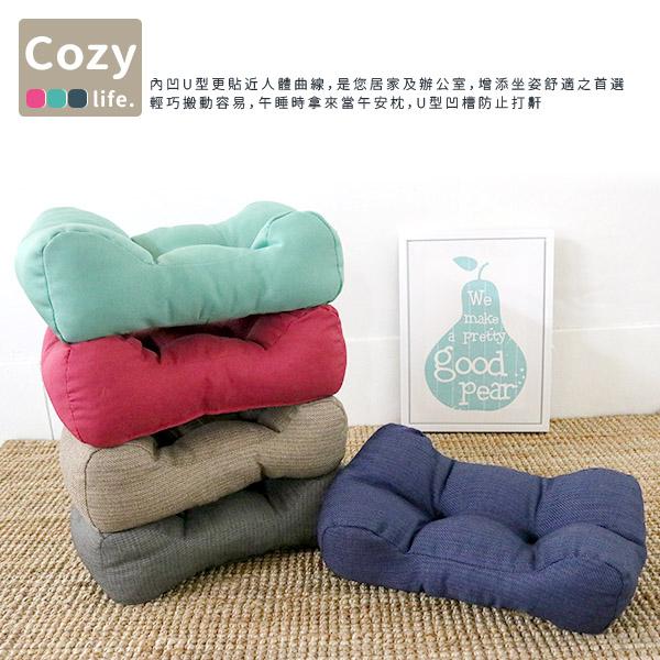 靠墊 椅墊 腳靠墊 午安枕《紛彩舒適多功能腰枕-小》-台客嚴選