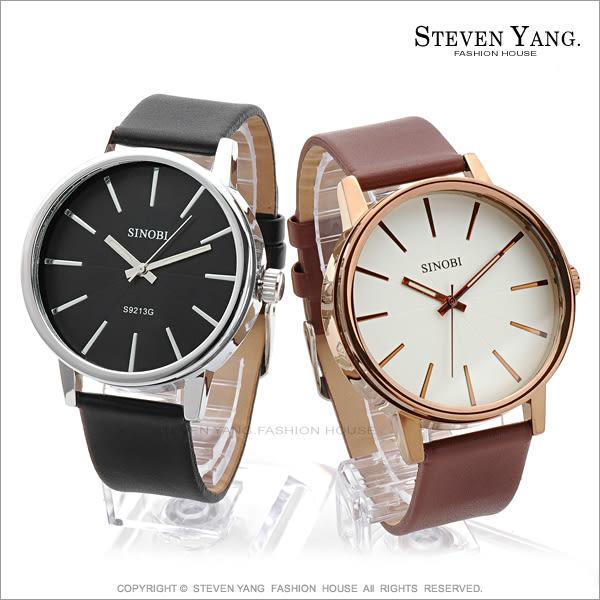 STEVEN YANG【KCB052】時尚手錶 經典玻璃夾心皮革手錶 簡約 夜光指針*單個價格*