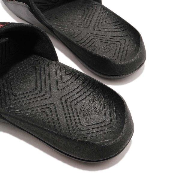 Nike 拖鞋 Jordan Hydro 7 黑 紅 魔鬼氈 大LOGO 舒適鞋墊設計 喬登 男鞋【PUMP306】 AA2517-062