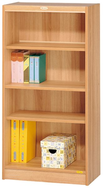 HY-574-7  白胡桃色四段高櫃 / 書櫃 (08026)-附兩片活動板.移動板32MM間距.多孔式設計