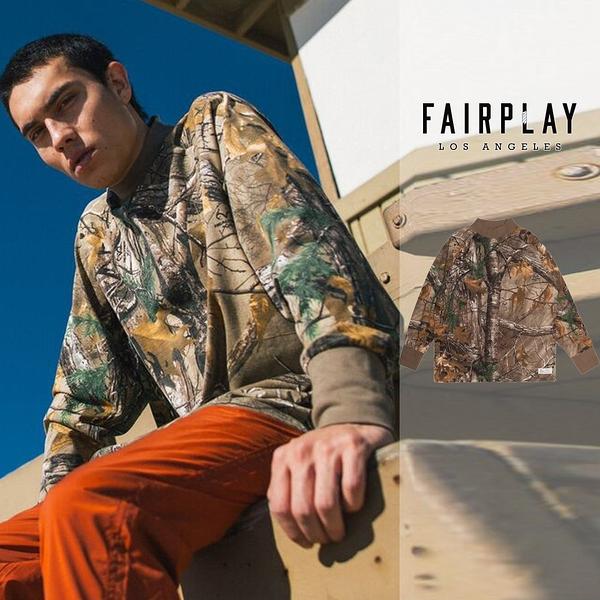 【GT】FairPlay x Real Tree Branch 迷彩 長袖T恤 純棉 滿版 寬鬆 寬版 長版 美牌 現貨 小高領 聯名款