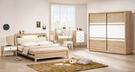 【森可家居】金美5.4尺床頭式床台床組(全組) 7ZX132-2 房間組合 木紋質感 無印風 北歐風