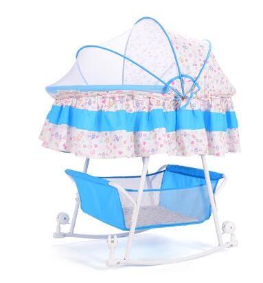 新生兒寶寶床搖籃車帶蚊帳多功能【藍星居家】