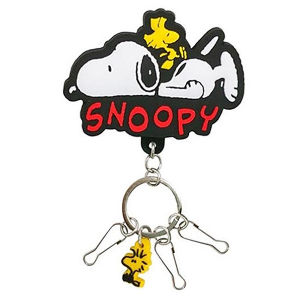 又敗家SK JAPAN史努比SNOOPY夾式鑰匙圈14008(夾包包吊飾)史奴比糊塗塌客夾子PEANUTS鑰匙圈裝飾